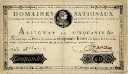 50 Livres FRANCE  1790 Ass.04a pr.TTB
