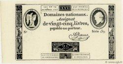 25 Livres FRANCE  1792 Ass.37a pr.NEUF