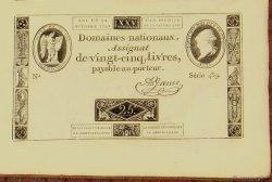Planche de 25 Livres FRANCE  1792 Ass.37abis SUP+