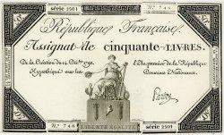 50 Livres FRANCE  1792 Ass.39a SPL
