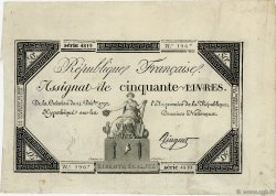 50 Livres FRANCE  1792 Ass.39a TTB