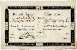 125 Livres FRANCE  1793 Ass.44b TTB+