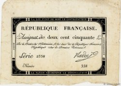 250 Livres FRANCE  1793 Ass.45a TTB
