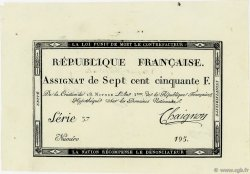 750 Francs FRANCE  1795 Ass.49b SUP