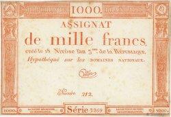 1000 Francs FRANCE  1795 Ass.50a TTB+