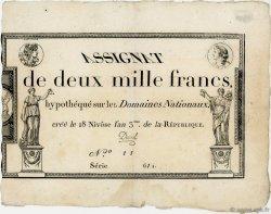 2000 Francs FRANCE  1795 Ass.51a TTB+