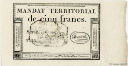 5 Francs Monval FRANCE  1796 Ass.63b pr.NEUF