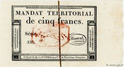 5 Francs Monval FRANCE  1796 Ass.63c pr.NEUF