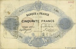 50 Francs type 1868 indices noirs FRANCE  1882 F.A38.12 B