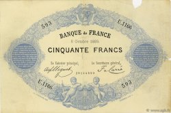 50 Francs type 1868 Indices Noirs FRANCE  1883 F.A38.13 TB+
