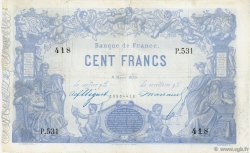 100 Francs type 1862 Indices Noirs FRANCE  1873 F.A39.09 TB