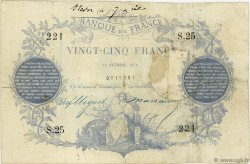 25 Francs type 1870 Paris FRANCE  1870 F.A43.01 TB