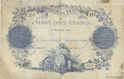 25 Francs type 1870 Clermont-Ferrand FRANCE  1870 F.A44.01 TTB