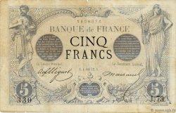 5 Francs NOIR FRANCE  1872 F.01.02 B+