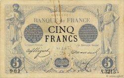 5 Francs NOIR FRANCE  1873 F.01.24 TTB