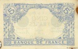 5 Francs BLEU FRANCE  1912 F.02.06 TTB+