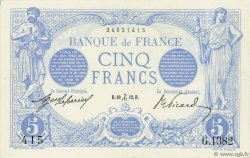 5 Francs BLEU FRANCE  1912 F.02.12 TTB+
