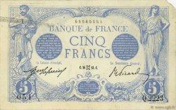5 Francs BLEU FRANCE  1913 F.02.17 TTB