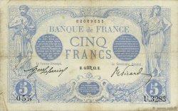5 Francs BLEU FRANCE  1913 F.02.21 TB+