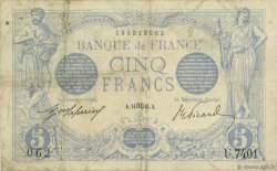 5 Francs BLEU FRANCE  1915 F.02.32 TB