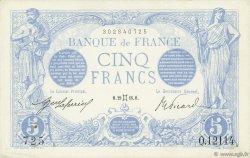 5 Francs BLEU FRANCE  1916 F.02.39 SUP+