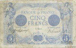 5 Francs BLEU FRANCE  1917 F.02.48 B à TB