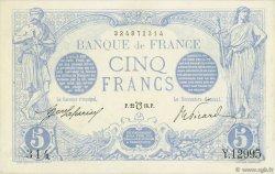 5 Francs BLEU lion inversé FRANCE  1916 F.02bis.04 SPL