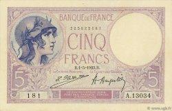 5 Francs VIOLET FRANCE  1923 F.03.07 pr.NEUF