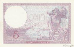 5 Francs VIOLET modifié FRANCE  1939 F.04.09 NEUF