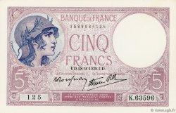 5 Francs VIOLET modifié FRANCE  1939 F.04.10 NEUF