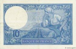 10 Francs MINERVE FRANCE  1916 F.06.01 TTB+