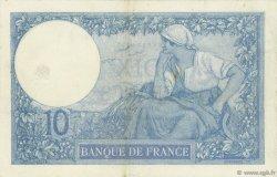 10 Francs MINERVE FRANCE  1918 F.06.03 TTB