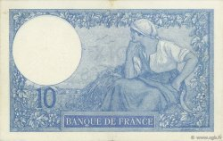 10 Francs MINERVE FRANCE  1921 F.06.05 TTB