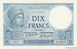 10 Francs MINERVE FRANCE  1924 F.06.08 SPL
