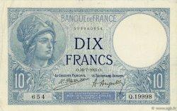 10 Francs MINERVE FRANCE  1925 F.06.09 TTB+