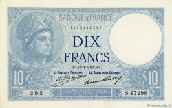 10 Francs MINERVE FRANCE  1928 F.06.13 pr.NEUF