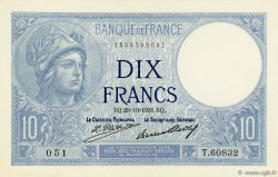 10 Francs MINERVE FRANCE  1931 F.06.15 pr.NEUF