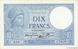 10 Francs MINERVE modifié FRANCE  1939 F.07.09 pr.NEUF