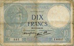 10 Francs MINERVE modifié FRANCE  1942 F.07.31 B