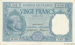 20 Francs BAYARD FRANCE  1916 F.11.01 SUP