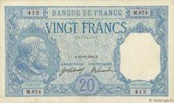 20 Francs BAYARD FRANCE  1916 F.11.01 TB+