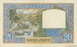 20 Francs SCIENCE ET TRAVAIL FRANCE  1940 F.12.07 SUP+
