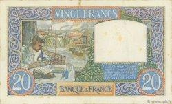 20 Francs SCIENCE ET TRAVAIL FRANCE  1940 F.12.10 TTB
