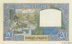 20 Francs SCIENCE ET TRAVAIL FRANCE  1941 F.12.14 TTB+