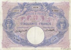 50 Francs BLEU ET ROSE FRANCE  1899 F.14.11 pr.TB