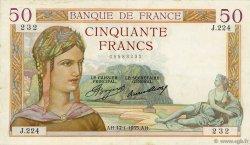 50 Francs CÉRÈS FRANCE  1935 F.17.03 TTB