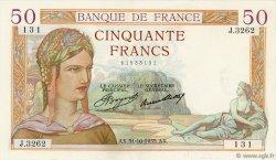 50 Francs CÉRÈS FRANCE  1935 F.17.19 SUP