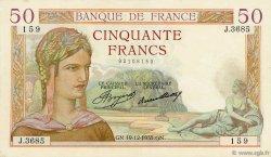 50 Francs CÉRÈS FRANCE  1935 F.17.21 TTB+