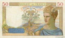 50 Francs CÉRÈS modifié FRANCE  1937 F.18.03 TTB
