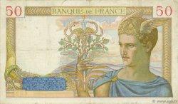 50 Francs CÉRÈS modifié FRANCE  1938 F.18.08 TB+